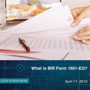 What is BIR Form 1601EQ?